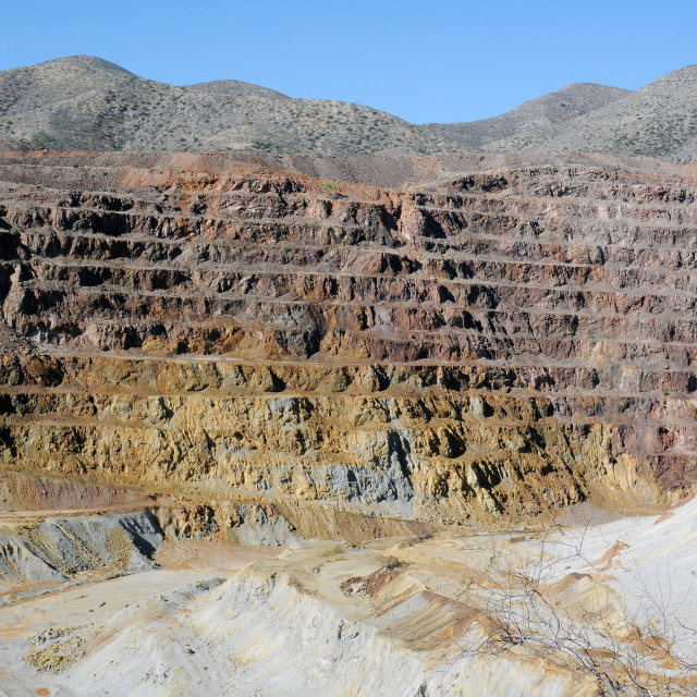"""Bisbee Copper mines"" stock image"