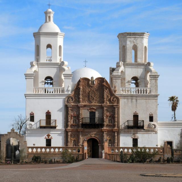 """Mission San Xavier del Bac"" stock image"