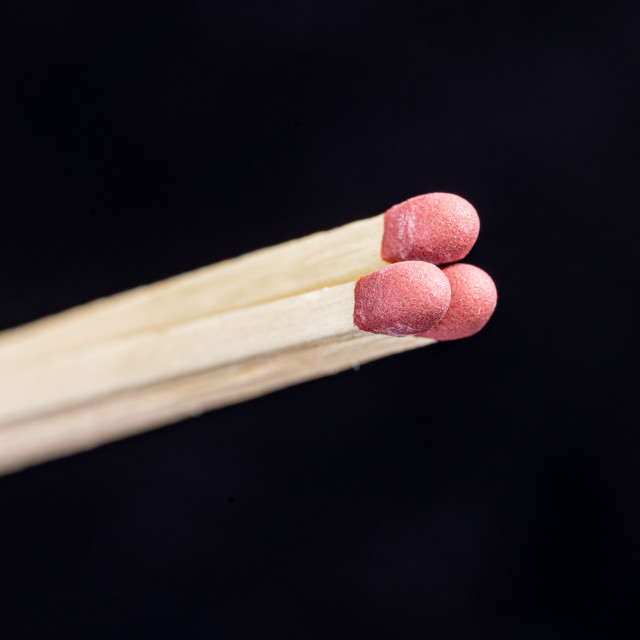"""Matches - Close up"" stock image"