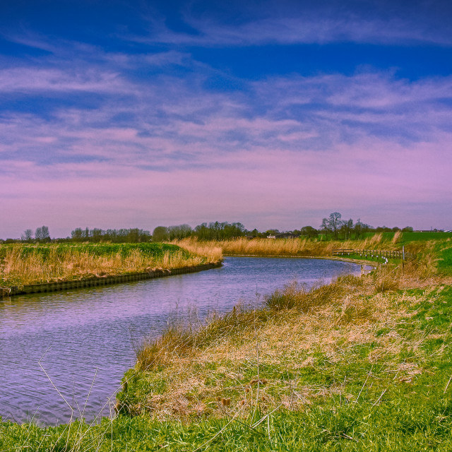 """The Old West river in Cambridgeshire"" stock image"
