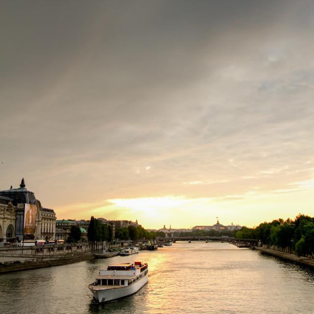 """""""Paris, River Seine Cruise"""" stock image"""