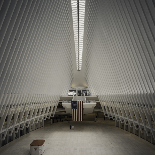 """""""World Trade Center during Covid-19 times"""" stock image"""