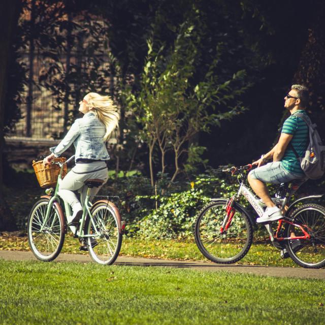 """""""Cycle Walk"""" stock image"""
