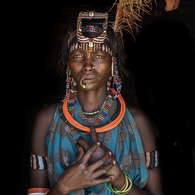 """Jiye woman in the Greater Kapoeta region (South Sudan)"" stock image"