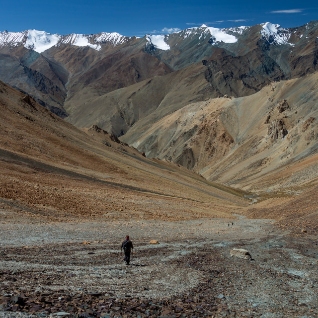 """View from Zherin La of the Himalayan Zanskar Range"" stock image"