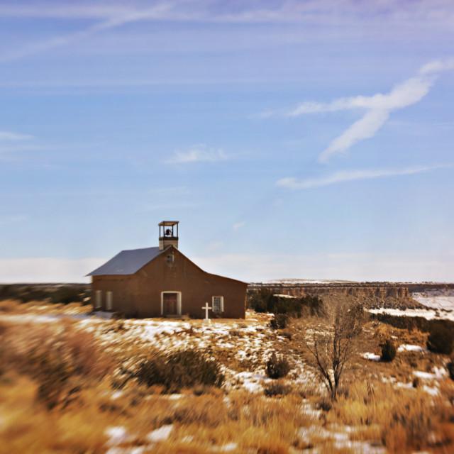 """Penitente Morada in Moquino, New Mexico"" stock image"