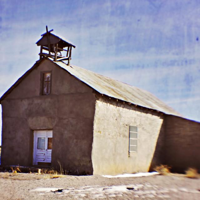 """Santa Rosalia Church in Moquino, New Mexico"" stock image"