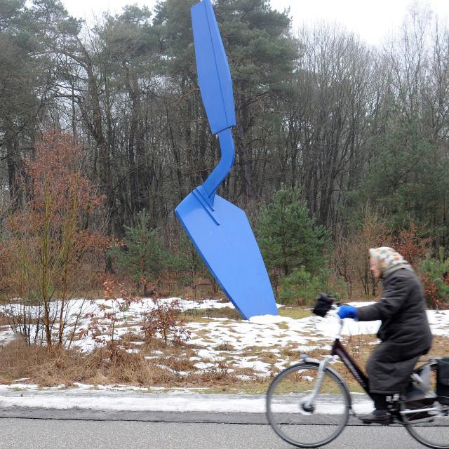 """Claes Oldenburg sculpture at Krueller Mueller"" stock image"