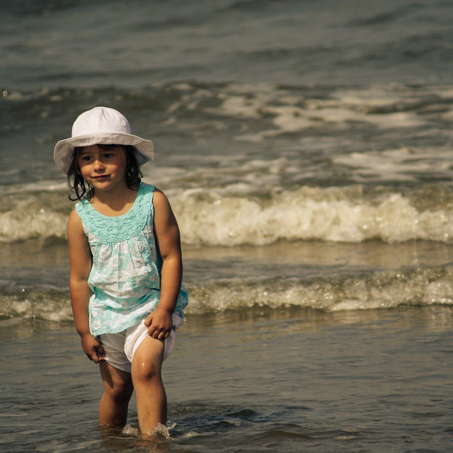 """Young Girl at the seaside"" stock image"