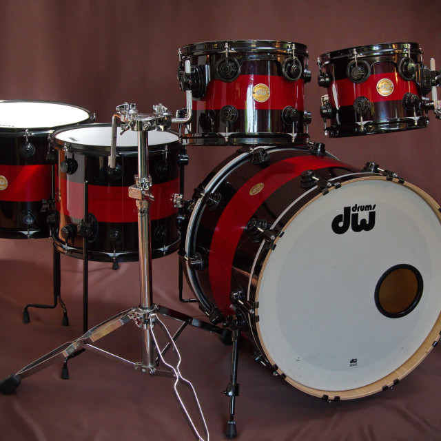 """DW Drum set"" stock image"