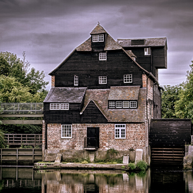 """Houghton Mill in Cambridgeshire"" stock image"