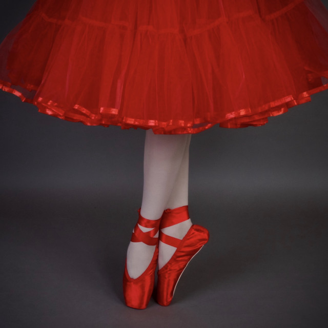 """""""Shoes Stories : En Pointe In Red"""" stock image"""