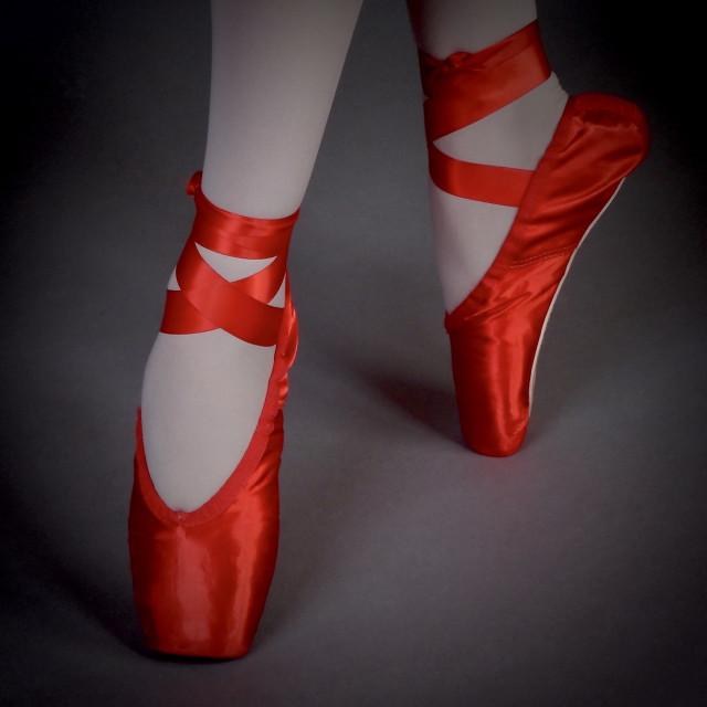 """Shoe Stories : En Pointe In Red"" stock image"