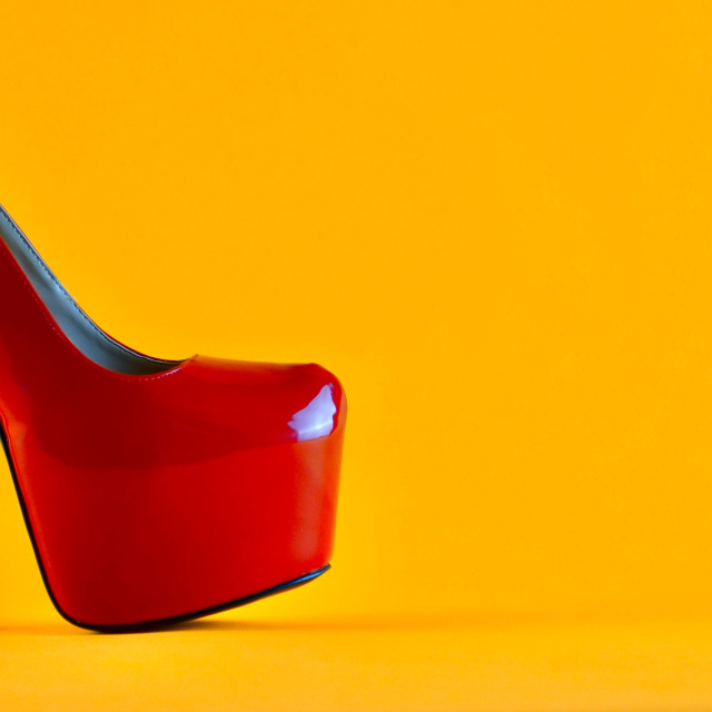 """""""Shoe Stories : Red Stiletto"""" stock image"""