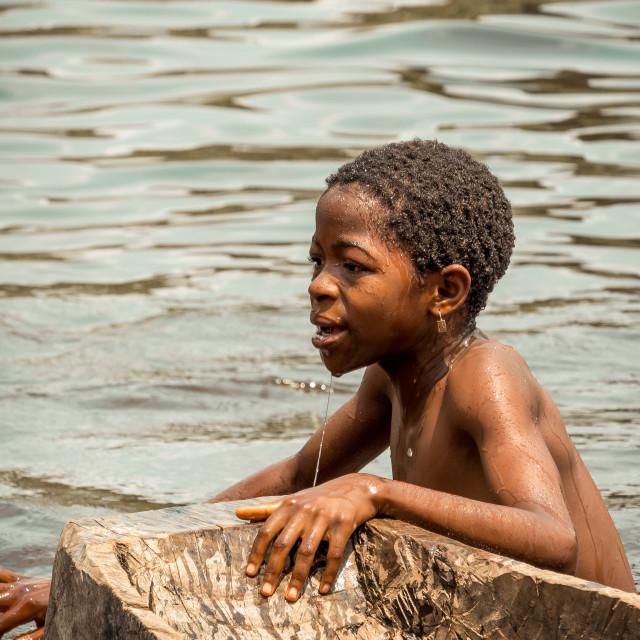 """Swimming Child"" stock image"
