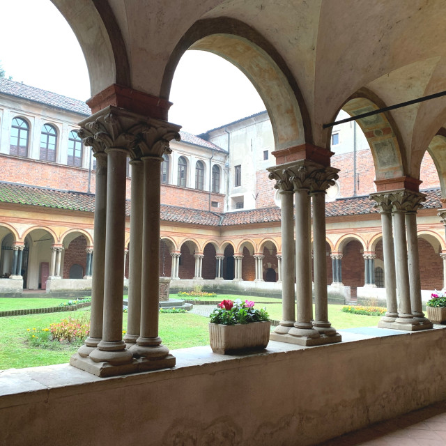 """""""Cloisters in Northern Italy"""" stock image"""