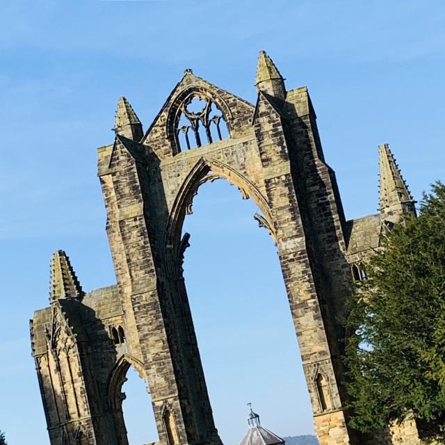 """Gisborough Priory, Yorkshire"" stock image"