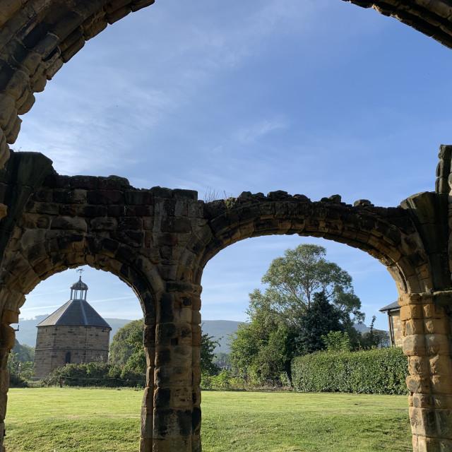 """Gisborough priory ruins"" stock image"