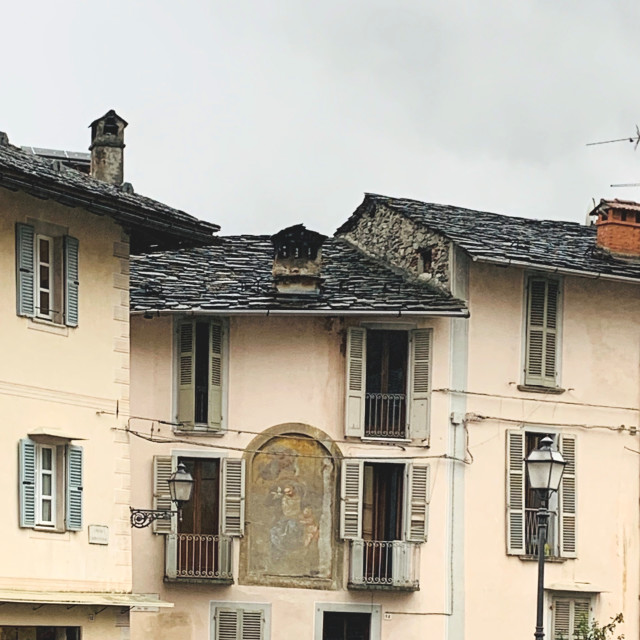 """Traditional Italian houses"" stock image"
