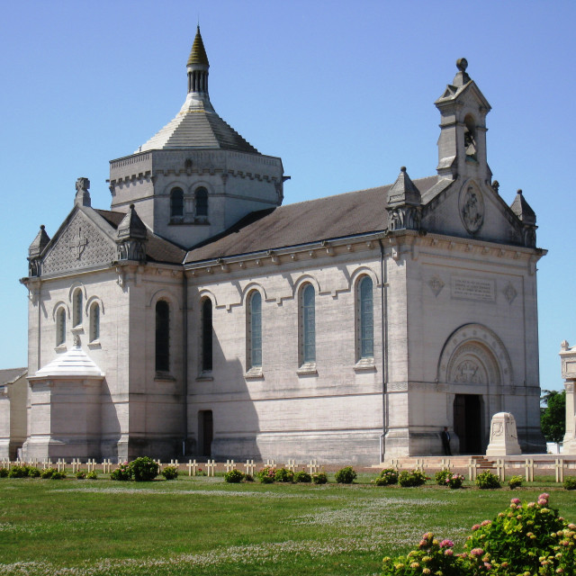 """""""Notre Dame de Lorette, France"""" stock image"""