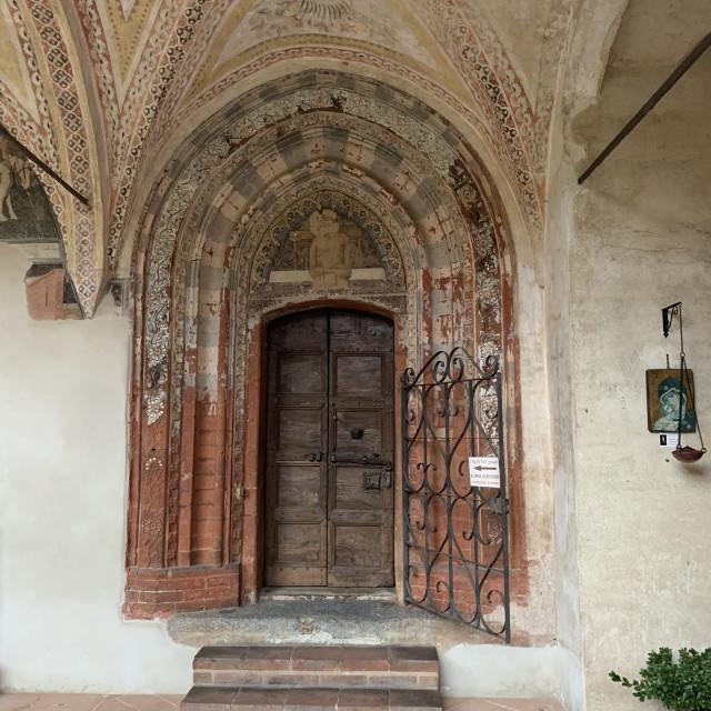 """""""Beautiful Italian wooden door"""" stock image"""