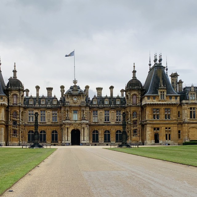 """Waddesdon Manor, exterior"" stock image"