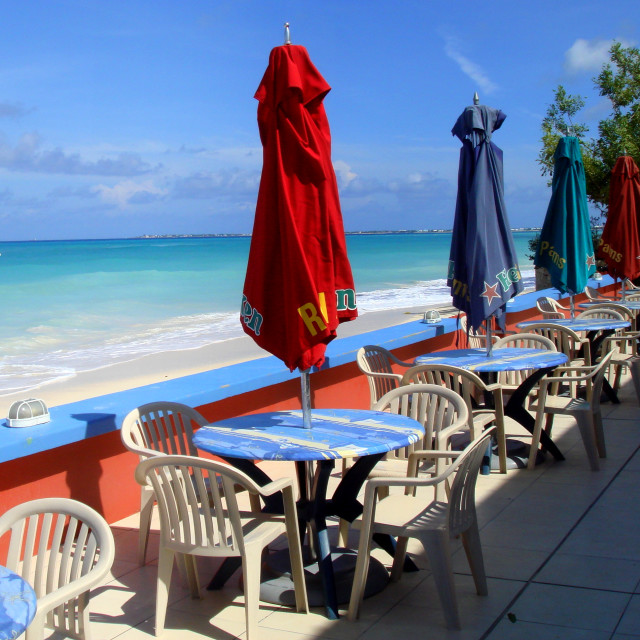 """Royal Palms Bar, Seven Mile Beach, Grand Cayman Island"" stock image"