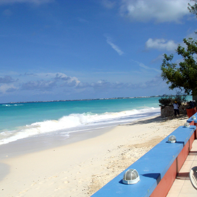 """Seven Mile Beach, Grand Cayman Island"" stock image"