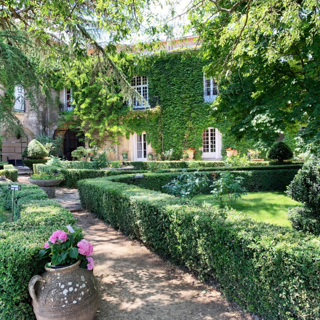 """""""French Chateau Garden"""" stock image"""