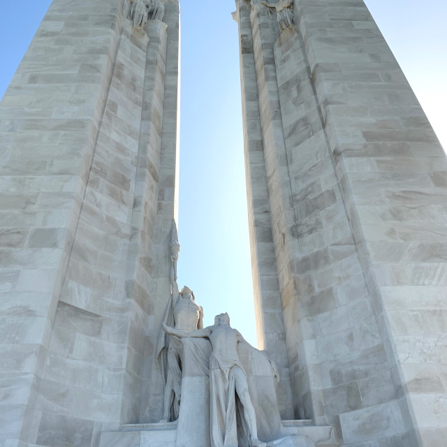 """""""Canadian National Vimy Memorial, France"""" stock image"""