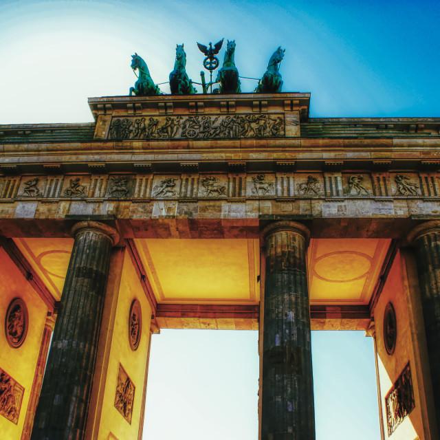 """Brandenburg Gater, Berlin"" stock image"