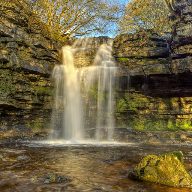 """Summerhill Force & Gibson's Cave"" stock image"