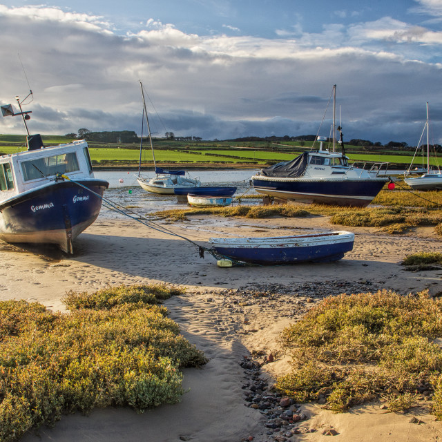 """Storm clearing - Alnmouth"" stock image"