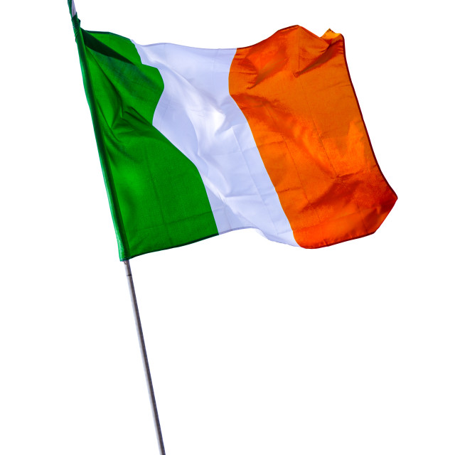 """Isolated Irish Flagpole"" stock image"