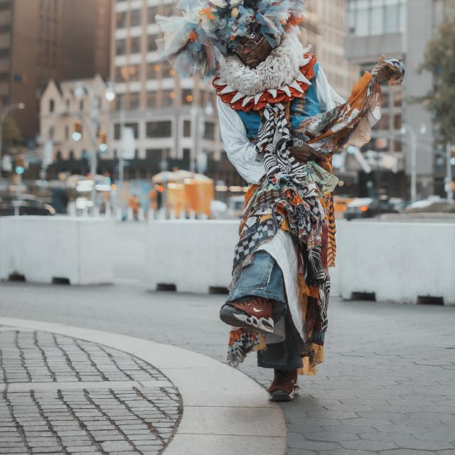 """NYC street fashion"" stock image"