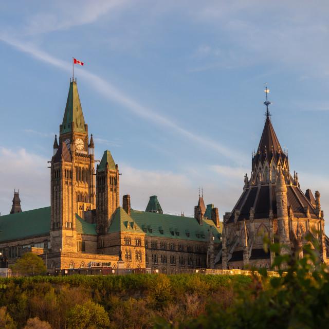 """Parliament Hill in Ottawa, Canada"" stock image"