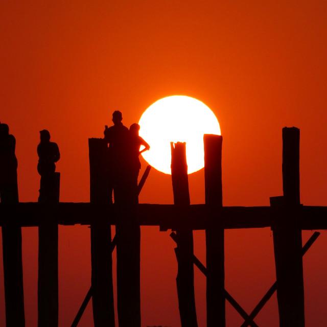 """U Bein Sunset"" stock image"