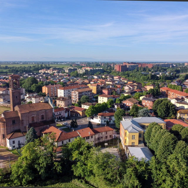 """""""Pieve Emanuele from top"""" stock image"""