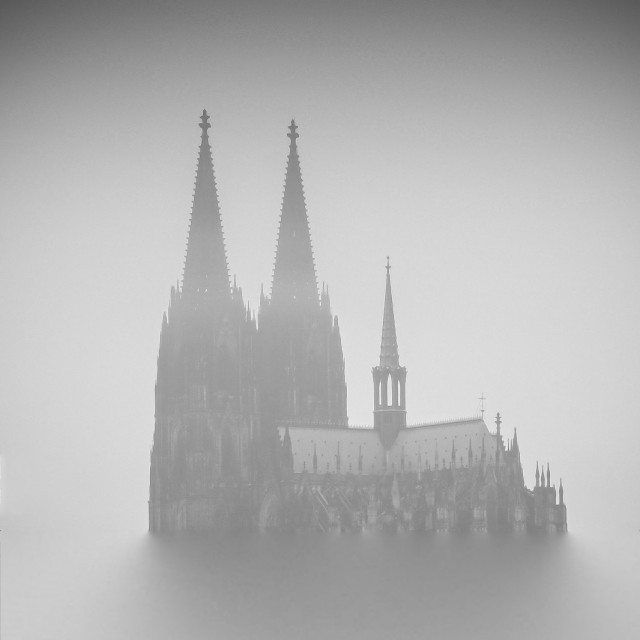 """""""Minimal photography with the Cathedral"""" stock image"""
