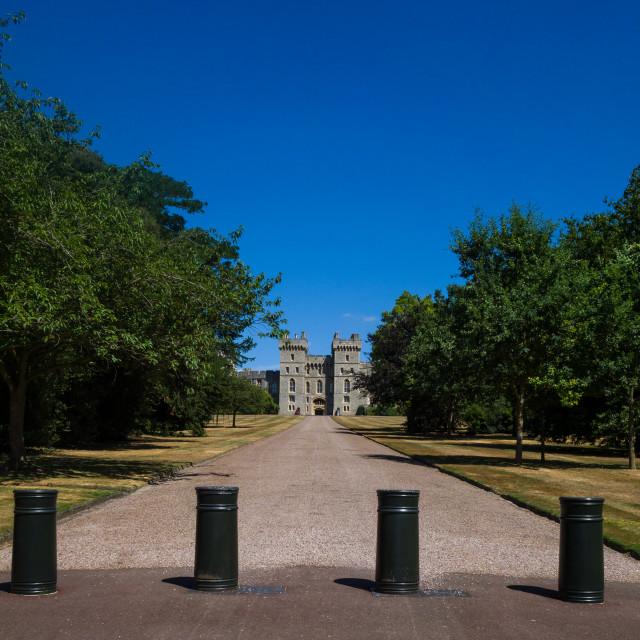 """Windsor Castle, residence of the Royal Family, WIndsor, Berkshire, England, UK"" stock image"