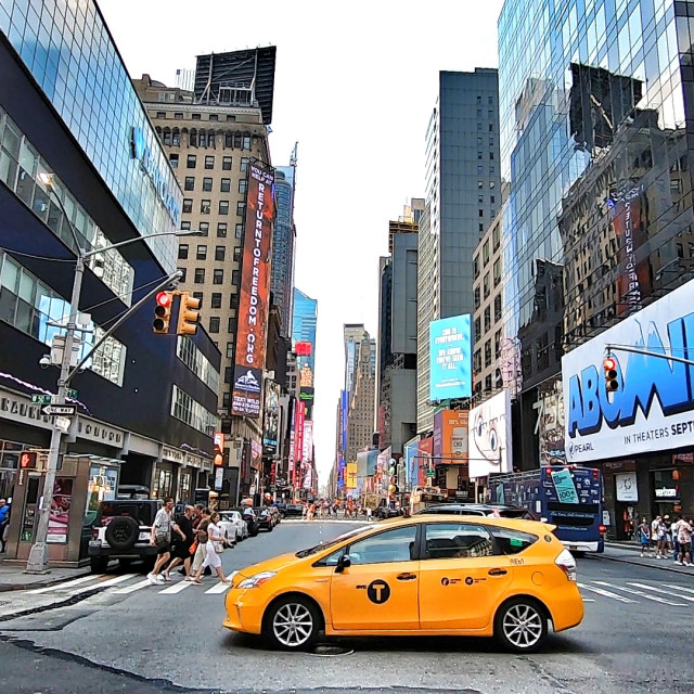 """Taxi in NYC"" stock image"