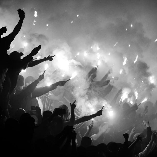 """Corinthians football fans"" stock image"