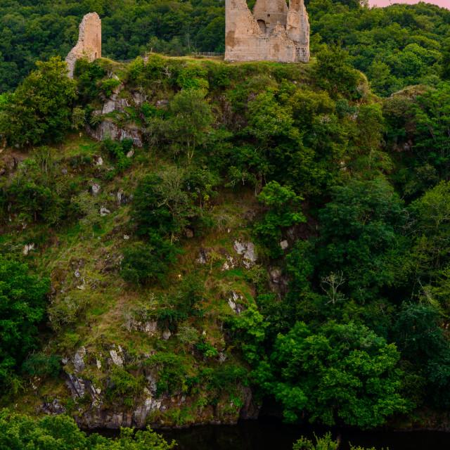 """""""L'ancienne forteresse de Crozant"""" stock image"""