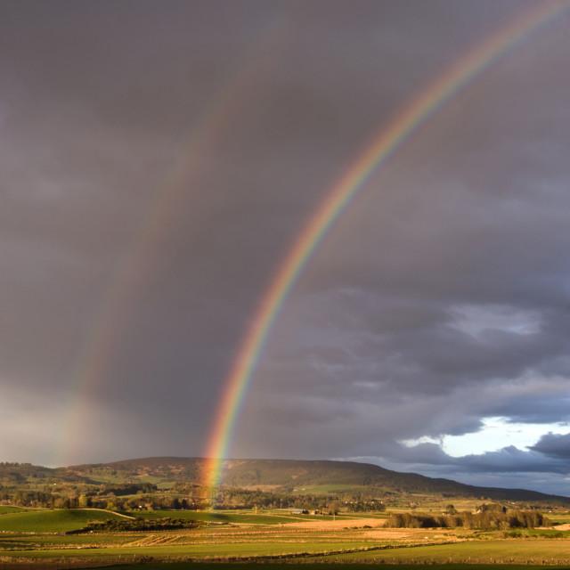 """""""Deeside Double Rainbow"""" stock image"""