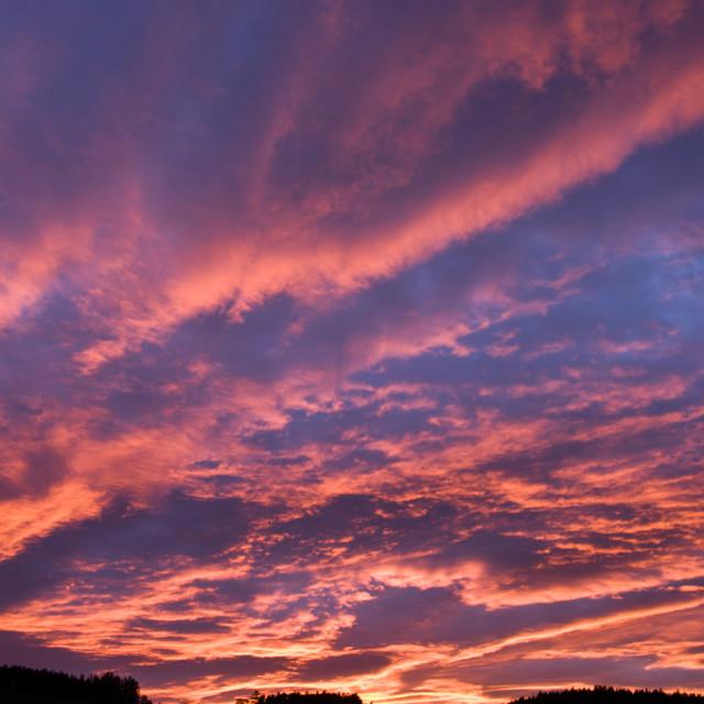 """Deeside Spring Sunset"" stock image"
