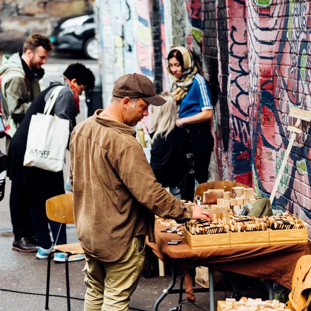 """Street scene in Ingens Gate area in Grunerlokka in Oslo"" stock image"