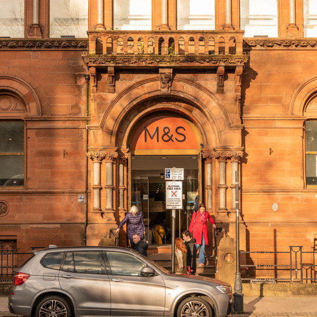 """""""Marks and Spencer, Belfast"""" stock image"""