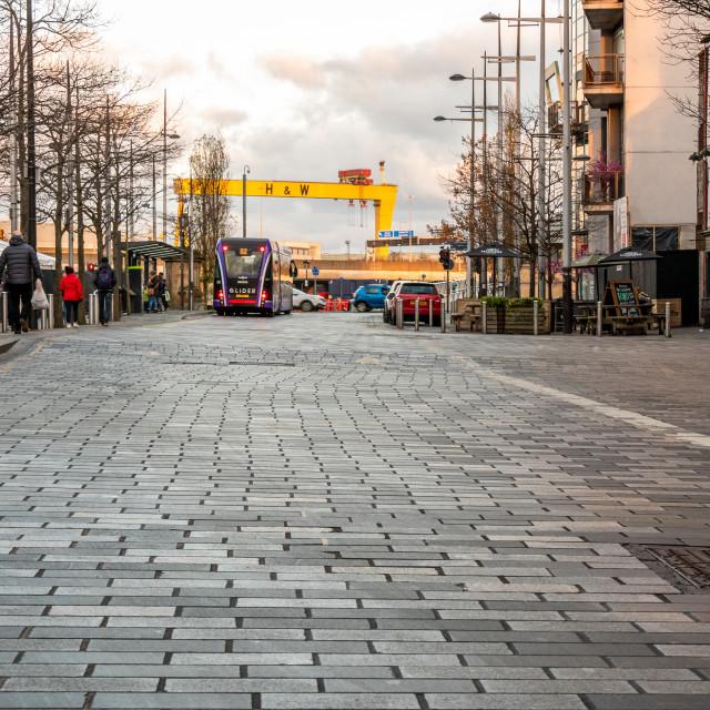 """Queens Square, Belfast"" stock image"
