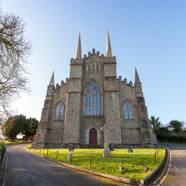 """""""Down Cathedral, Downpatrick. Church of Ireland Cathedral"""" stock image"""