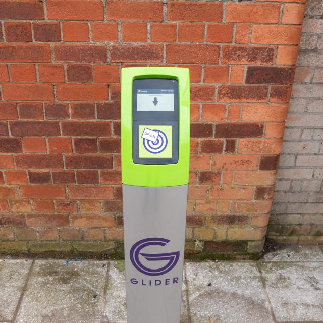 """""""Glider Bus ticket machine"""" stock image"""